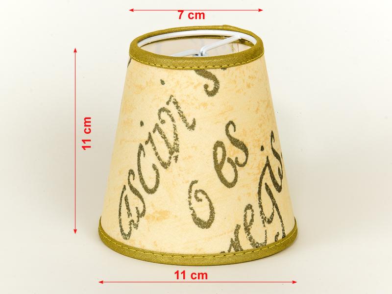 lampenschirm zum aufstecken beige gold mit aufdruck schrift verschieden ebay. Black Bedroom Furniture Sets. Home Design Ideas