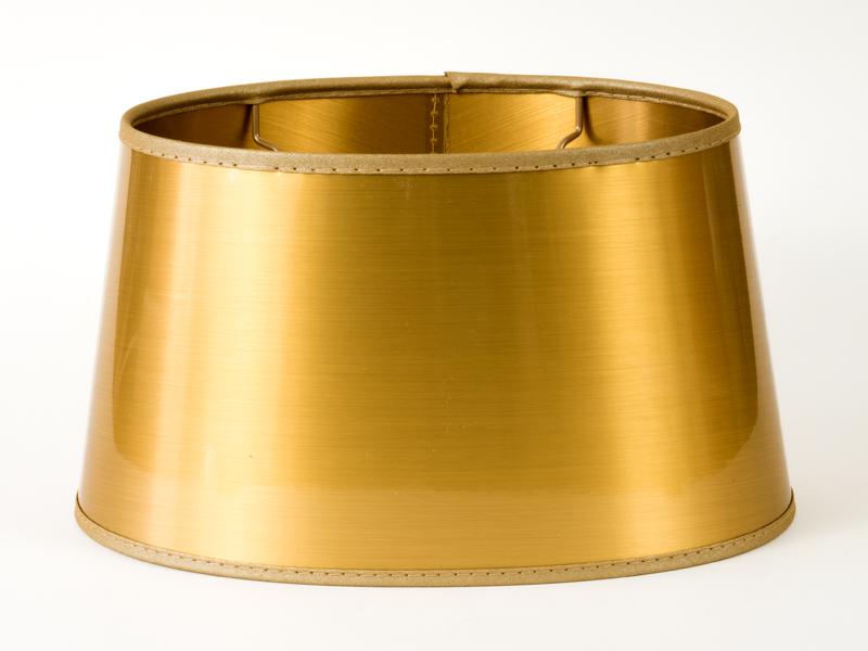 Lampenschirm extravagant gold lack oval f r tischlampen for Nachttisch lampenschirme